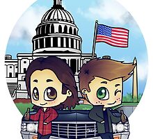 Winchesters in DC by bonejangless