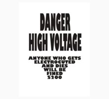 Danger High Voltage by Raoul Isidro