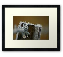 Icy Wire Framed Print