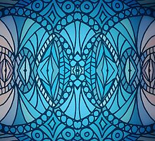 Blue Art Deco by artlovepassion