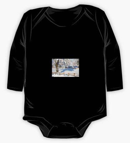 Snowy Scene One Piece - Long Sleeve