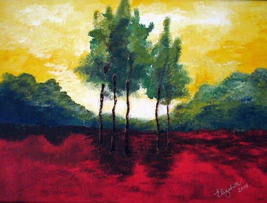 Five trees by Elizabeth Kendall