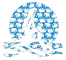 Lilly Pulitzer Inspired Mermaid (2) Blue Tusk in Sun by mlr28blu