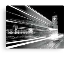 BIG BEN IN BLACK AND WHITE  Canvas Print