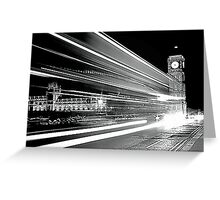 BIG BEN IN BLACK AND WHITE  Greeting Card