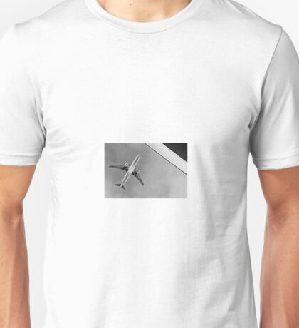 Black + white plane abstract Unisex T-Shirt