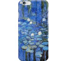 water lilies a la Monet iPhone Case/Skin