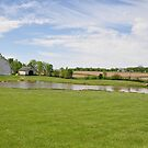 Barns and Pond near Lynn, Indiana by mltrue