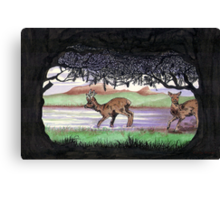 Out of the Forest II `Roe Deer in Morayshire Canvas Print