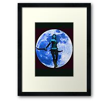 BLUE MOON WARRIOR Framed Print