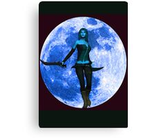 BLUE MOON WARRIOR Canvas Print