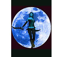 BLUE MOON WARRIOR Photographic Print