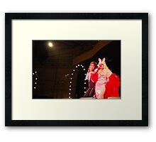 Sophie Brous and Miss Piggy Framed Print