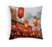 Lanterns Are Red (1) Throw Pillow
