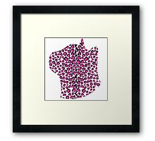 Cats Head Leopard Print in Pink Framed Print