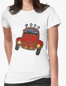 Baja Bug Cats Womens Fitted T-Shirt