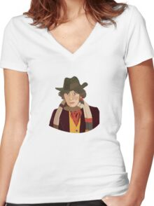 The 4th Doctor Women's Fitted V-Neck T-Shirt