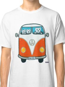 Westies in a VW Classic T-Shirt