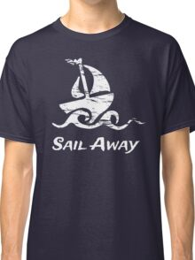 Sail Away: White Sailboat Classic T-Shirt