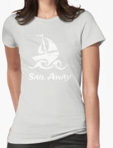 Sail Away: White Sailboat T-Shirt