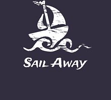 Sail Away: White Sailboat Tank Top