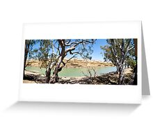 Blanchetown Cliffs Greeting Card