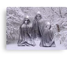 Statues in Winter Canvas Print