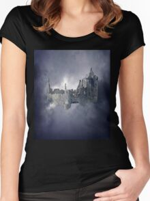 Castle in the Sky Women's Fitted Scoop T-Shirt