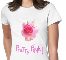 Pretty Pink ROSE T Shirt Womens Fitted T-Shirt