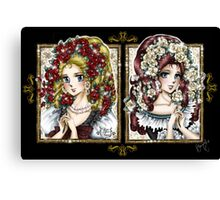 SnowWhite and RoseRed // Marie-Antoinette et Emily Canvas Print