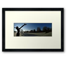 Greeting the morn - Roffey Park Framed Print