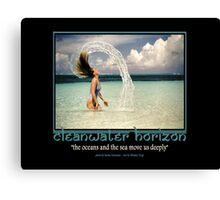 Cleanwater Horizon 18 Canvas Print