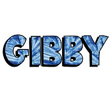 Name Blue Tie Dye - Gibby Photographic Print