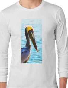 Big Bill - Pelican Art By Sharon Cummings Long Sleeve T-Shirt
