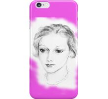 Drawing of a lovely girl iPhone Case/Skin