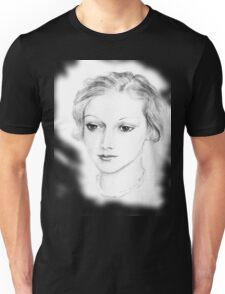 Drawing of a lovely girl Unisex T-Shirt