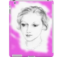 Drawing of a lovely girl iPad Case/Skin