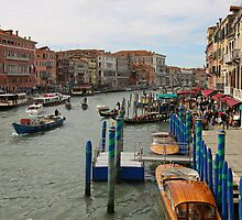 Heavy Traffic on the Grand Canal, Venice, Italy by Janika