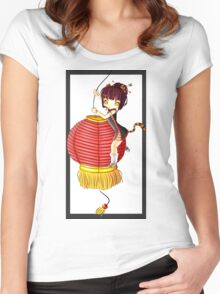 China Tiger Women's Fitted Scoop T-Shirt