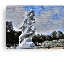 Garden statue at Sanssouci palace In Potzdam Germany Canvas Print