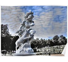 Garden statue at Sanssouci palace In Potzdam Germany Poster