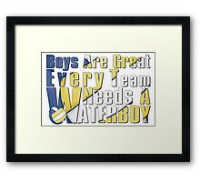 Waterboy Volleyball Framed Print