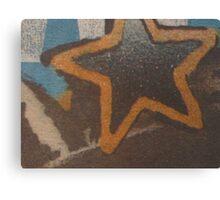 """Hollywood"" Star Canvas Print"