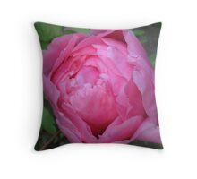 Big, Bold and Pink Peony Throw Pillow
