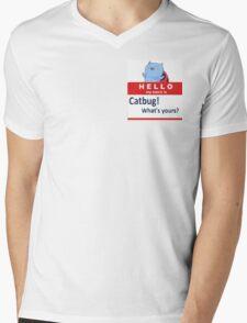 Catbug Name tag Mens V-Neck T-Shirt