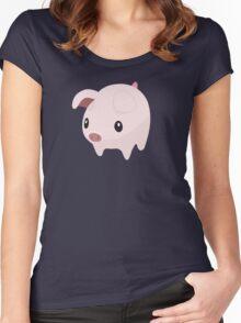 Poogie Piggie Monster Hunter Print! Women's Fitted Scoop T-Shirt