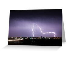 City Lightning Intersection Greeting Card