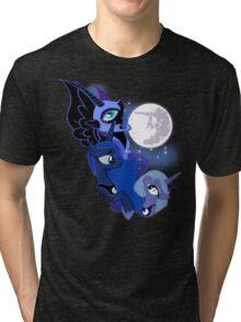 3 Luna Moon Tri-blend T-Shirt