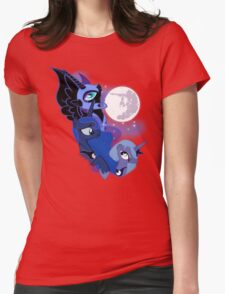 3 Luna Moon Womens Fitted T-Shirt
