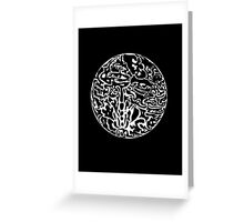 Black and white abstract circle Greeting Card